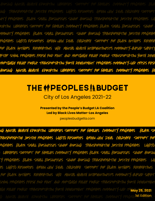 The People's Budget Report Cover 2021-22