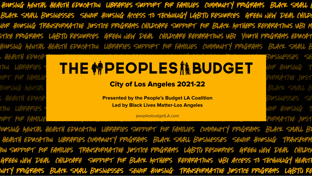 The people's budget slide title screen
